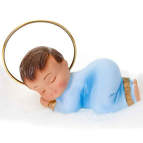 Baby Jesus figurine in plaster, 6 cm 3