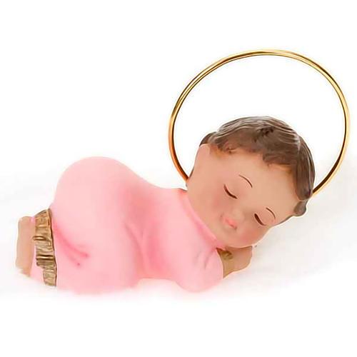 Baby Jesus figurine in plaster, 6 cm 4