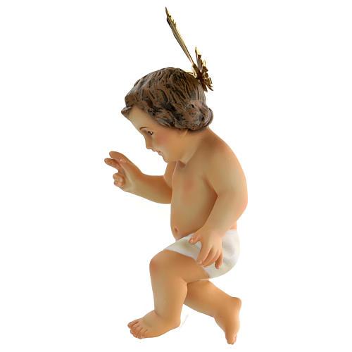 Jésus enfant, bénédiction, bois, pagne blanc 3