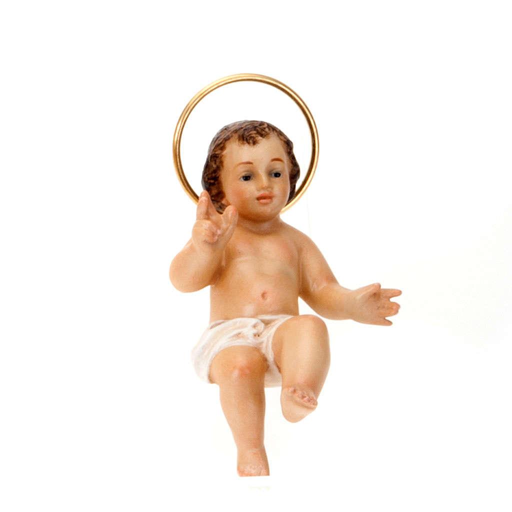 Dzieciątko Jezus błogosławiący drewno szaty bia 3