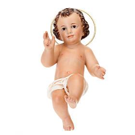 Dzieciątko Jezus błogosławiący drewno szaty bia s1