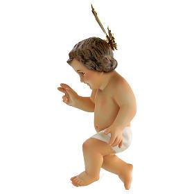 Dzieciątko Jezus błogosławiący drewno szaty bia s3