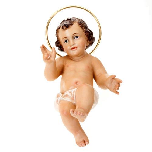 Dzieciątko Jezus błogosławiący drewno szaty bia 2
