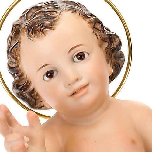 Dzieciątko Jezus błogosławiący drewno szaty bia 4