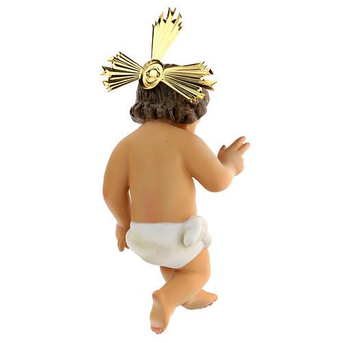 Dzieciątko Jezus błogosławiący drewno szaty bia 5