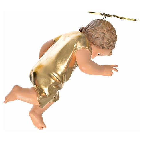 Gesù Bambino pasta legno veste dorata cm 35 dec. elegante 8