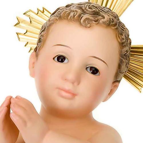Gesù Bambino pasta legno raggiera cm 30 dec. elegante 4