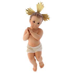 Statues Enfant Jésus: Jésus enfant, mains jointes, bois