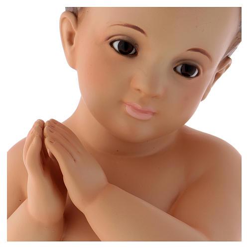 Gesù Bambino pasta legno mani giunte 2