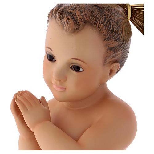 Gesù Bambino pasta legno mani giunte 4