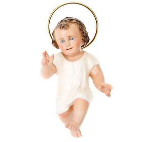 Gesù Bambino pasta legno cm 15  benedicente dec. elegante s1