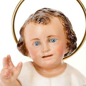 Gesù Bambino pasta legno cm 15  benedicente dec. elegante s3