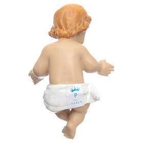 Gesù Bambino  benedicente resina cm10 s2