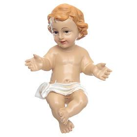 Figuras do Menino Jesus: Menino Jesus abençoando resina 10 cm