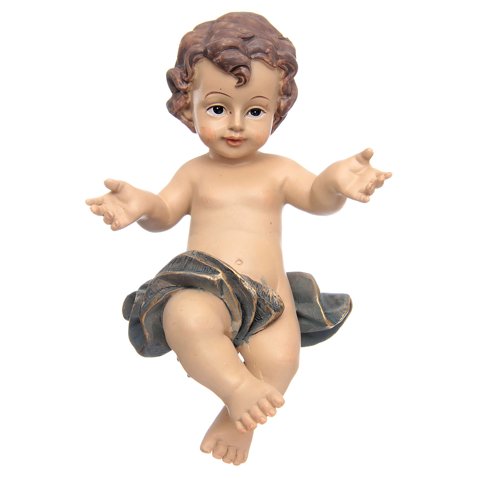 Resin Baby Jesus statue with cradle 3