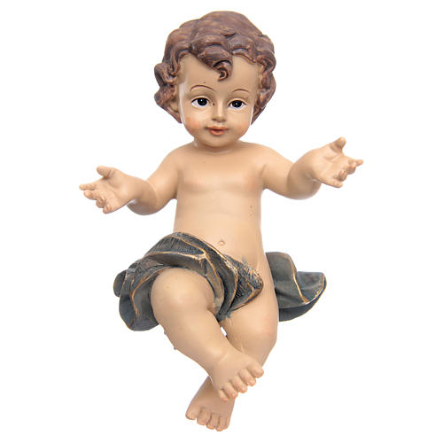 Resin Baby Jesus statue with cradle 2