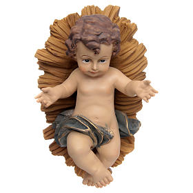 Jésus enfant, résine, berceau s1