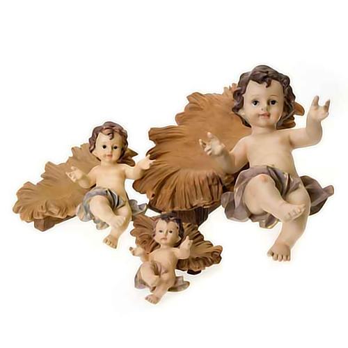 Gesù bambino resina culla 4