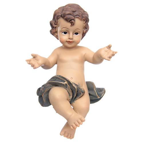 Gesù bambino resina culla 2