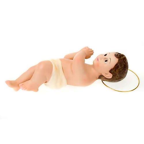Enfant Jésus en plâtre auréole, 25 cm 3