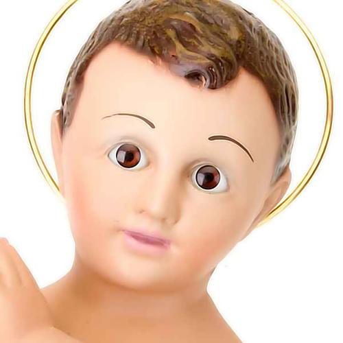 Gesù Bambino gesso aureola cm 25 2