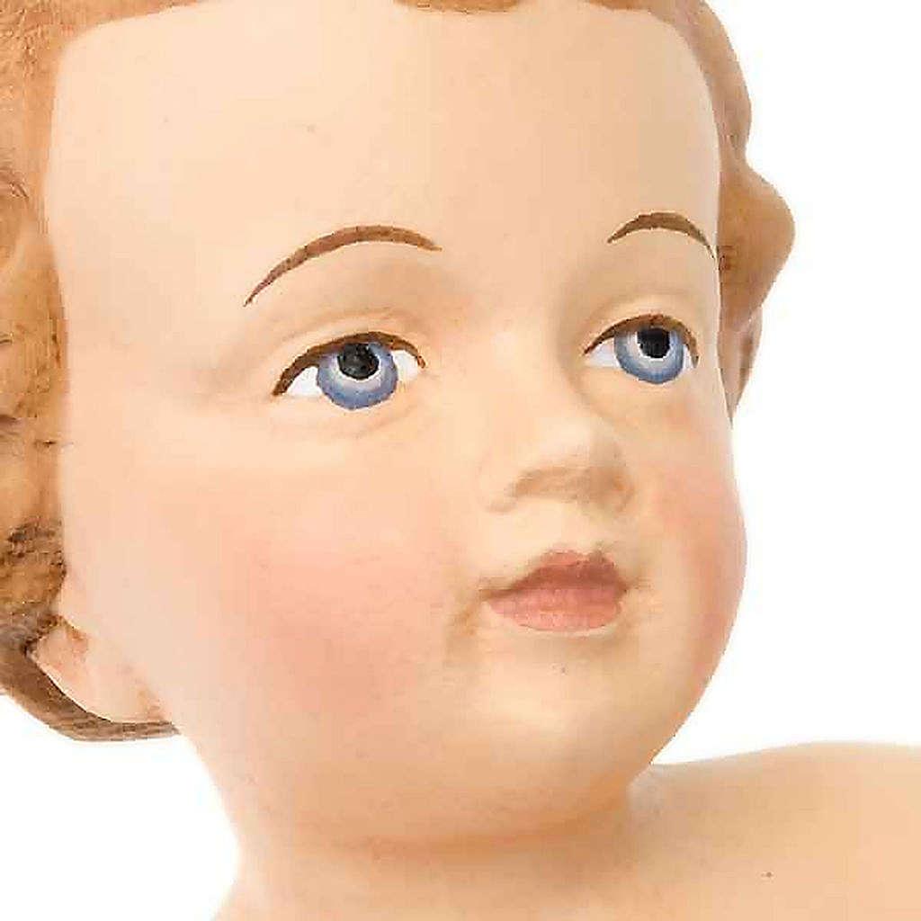 Gesù Bambino legno dipinto a mano 25cm 4