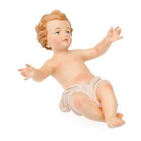 Gesù Bambino legno dipinto a mano 25cm s3
