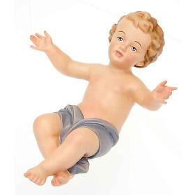 Gesù Bambino legno dipinto a mano 25cm s4