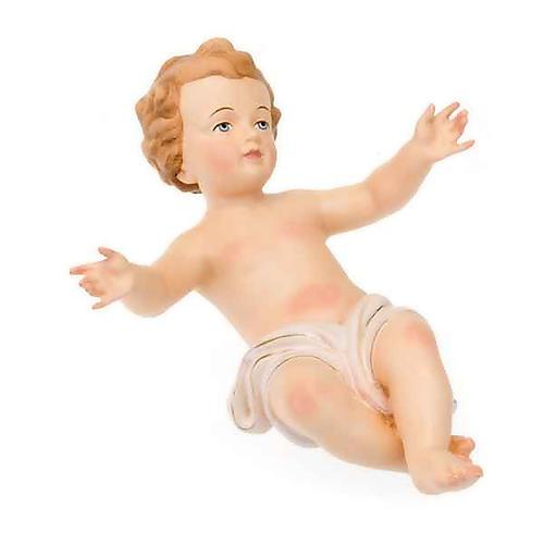 Gesù Bambino legno dipinto a mano 25cm 3