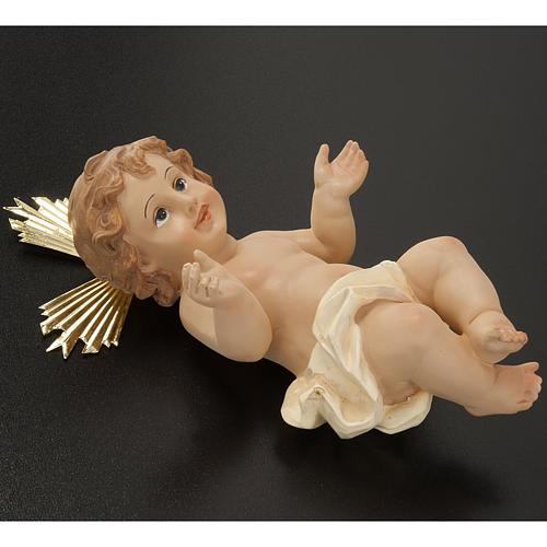 Bambinello resina con raggiera 18 cm 3
