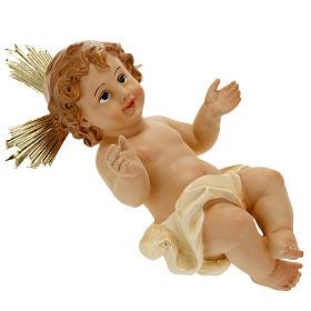 Dzieciątko Jezus żywica z promienistą koroną 18 cm s5