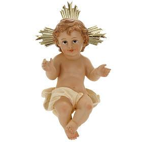 Menino Jesus resina com resplendor 18 cm s1