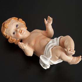 Dzieciątko Jezus polyresin z słomą różne wielkości s4