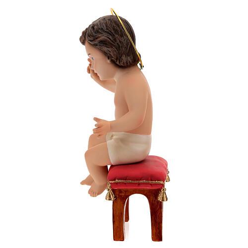 Niño Jesús sentado de yeso 20 cm 5