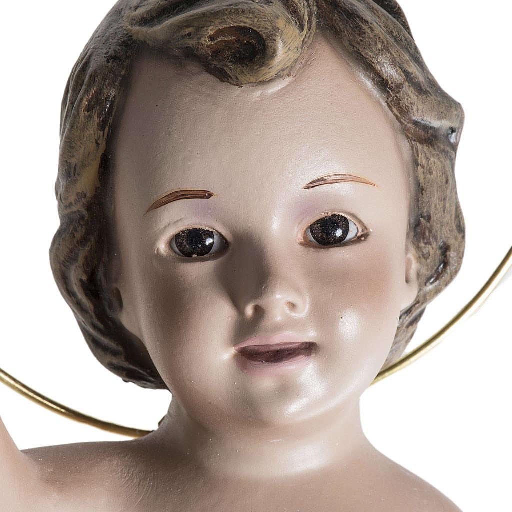Enfant Jésus assis plâtre 20 cm 3