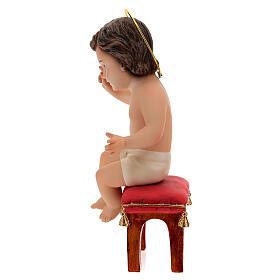 Bambinello seduto gesso 20 cm s5