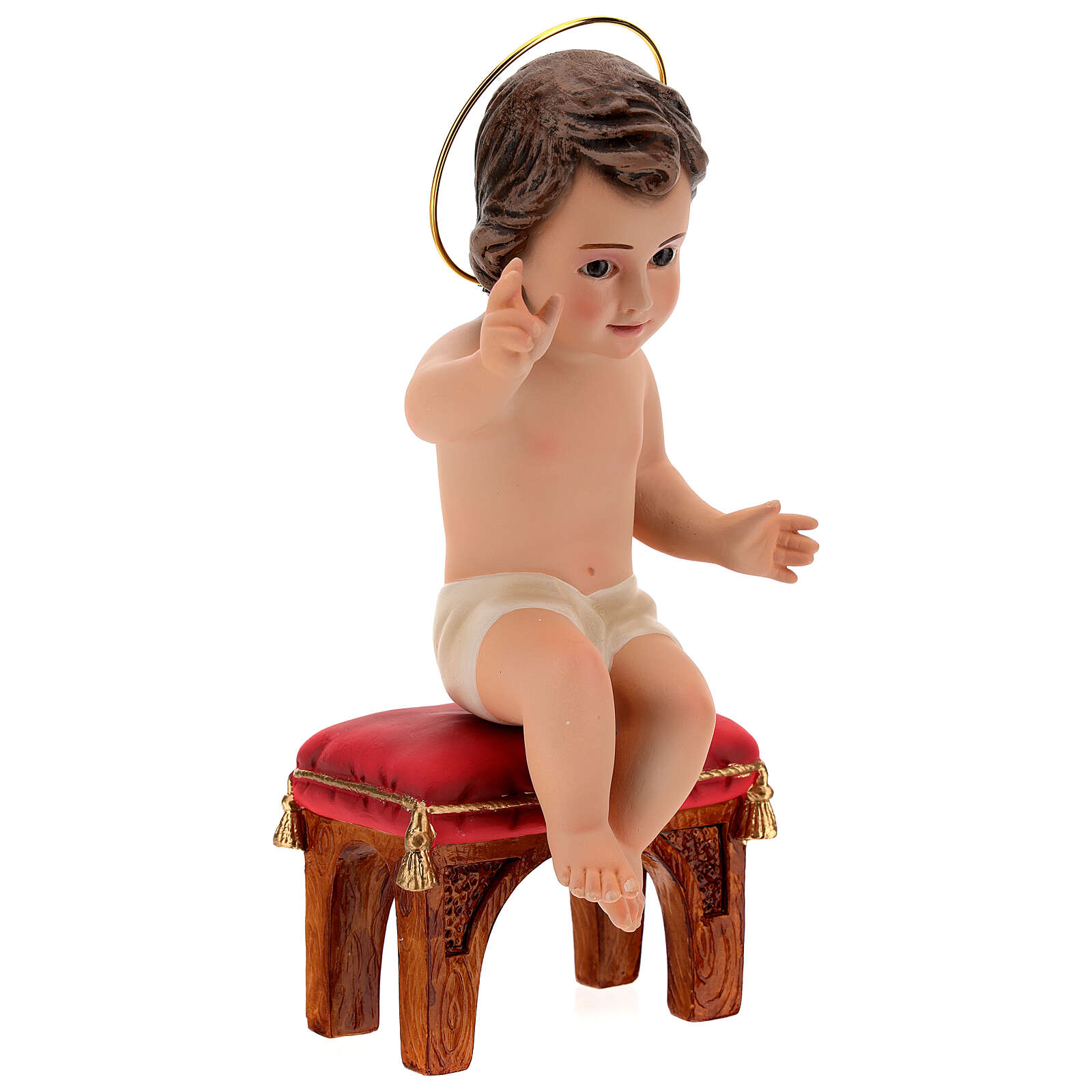 Menino Jesus sentado gesso 20 cm 3