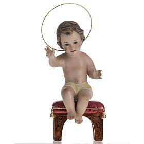 Baby Jesus in plaster, sitting 20cm  s1