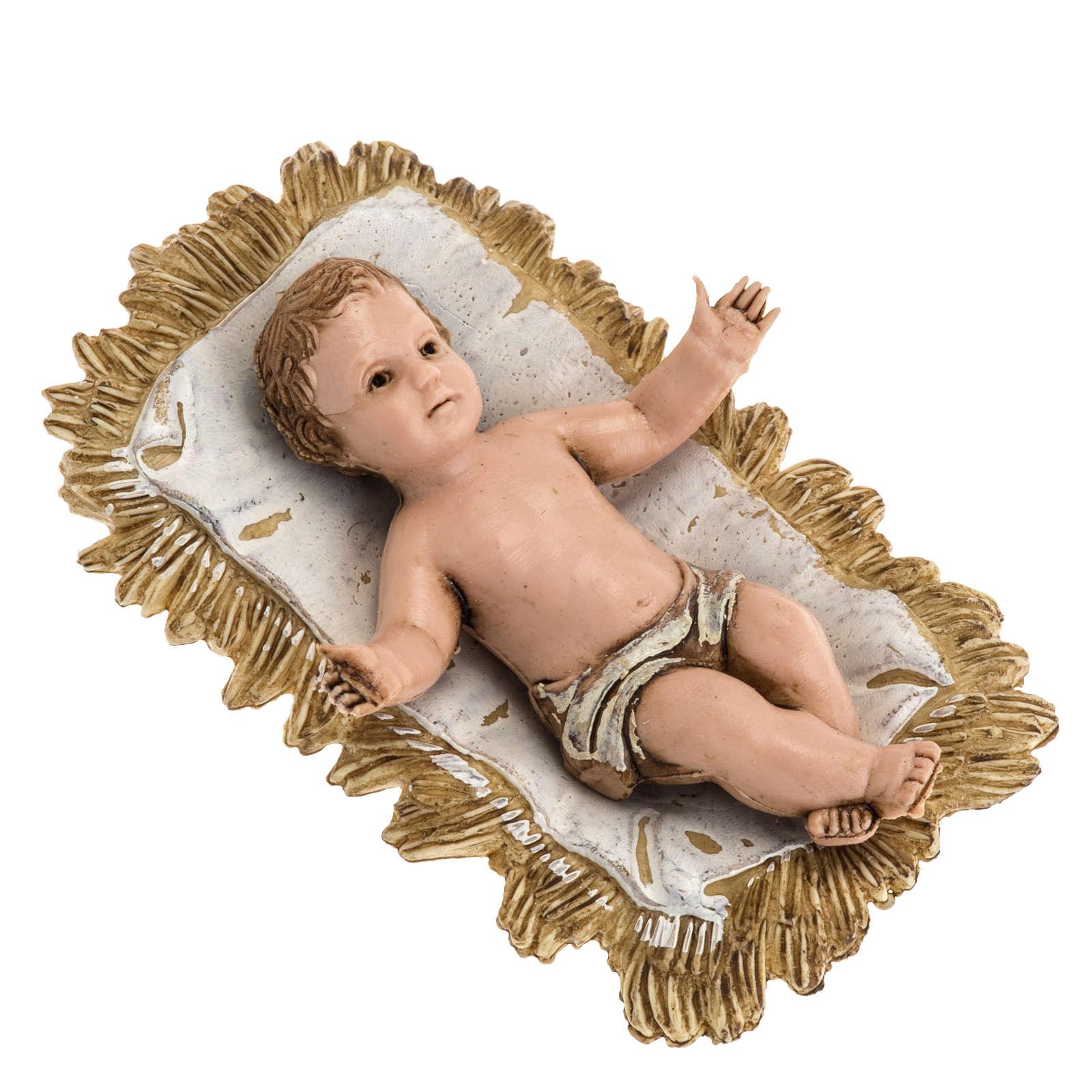Gesù bambino con culla Moranduzzo 4 cm 3