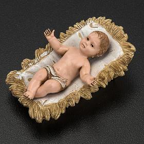 Gesù bambino con culla Moranduzzo 4 cm s2