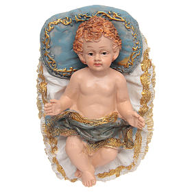 Gesù bambino in culla 13x9x8,5 cm s1
