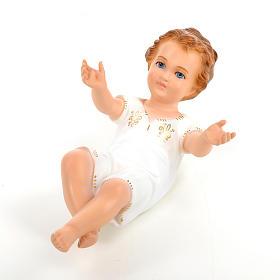 Baby Jesus, lying with crystal eyes, 27cm Landi s5