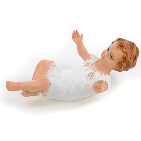Baby Jesus, lying with crystal eyes, 27cm Landi s6