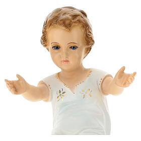 Bambino Gesù cm 27 sdraiato occhi cristallo Landi s2