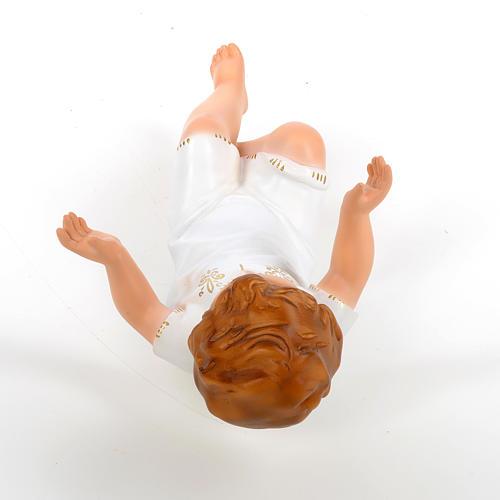 Bambino Gesù cm 27 sdraiato occhi cristallo Landi 7