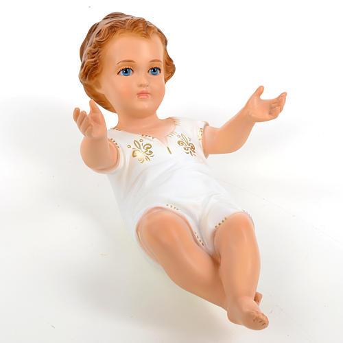 Bambino Gesù cm 27 sdraiato occhi cristallo Landi 8