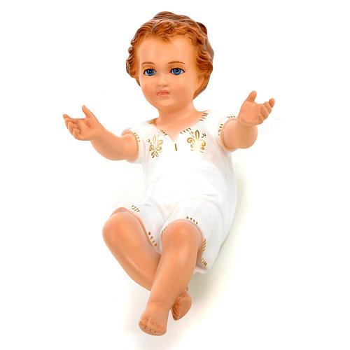 Bambino Gesù cm 27 sdraiato occhi cristallo Landi 1