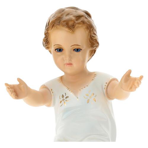 Bambino Gesù cm 27 sdraiato occhi cristallo Landi 2