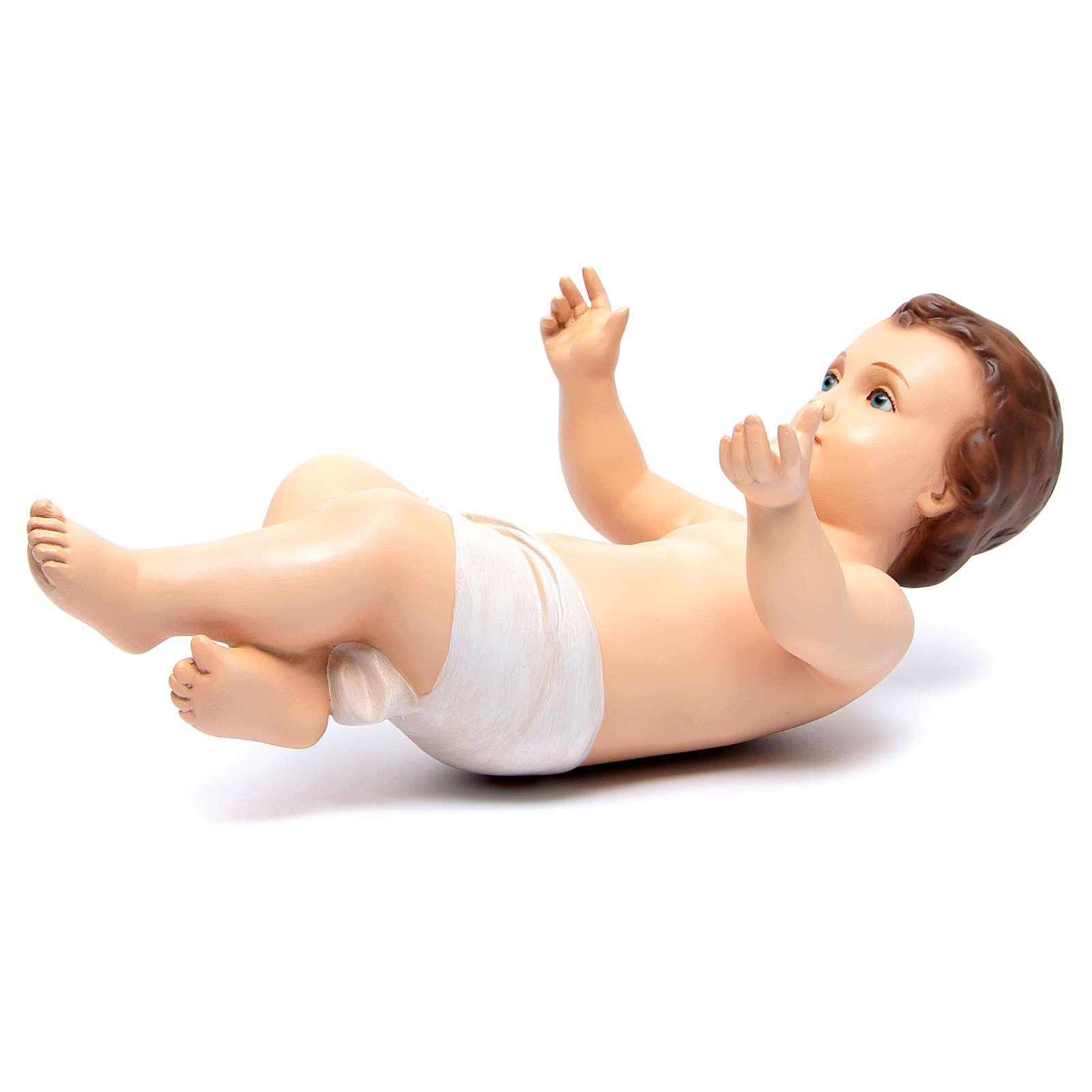 Niño Jesús semi desnudo cm 46 ojos cristal Landi 3