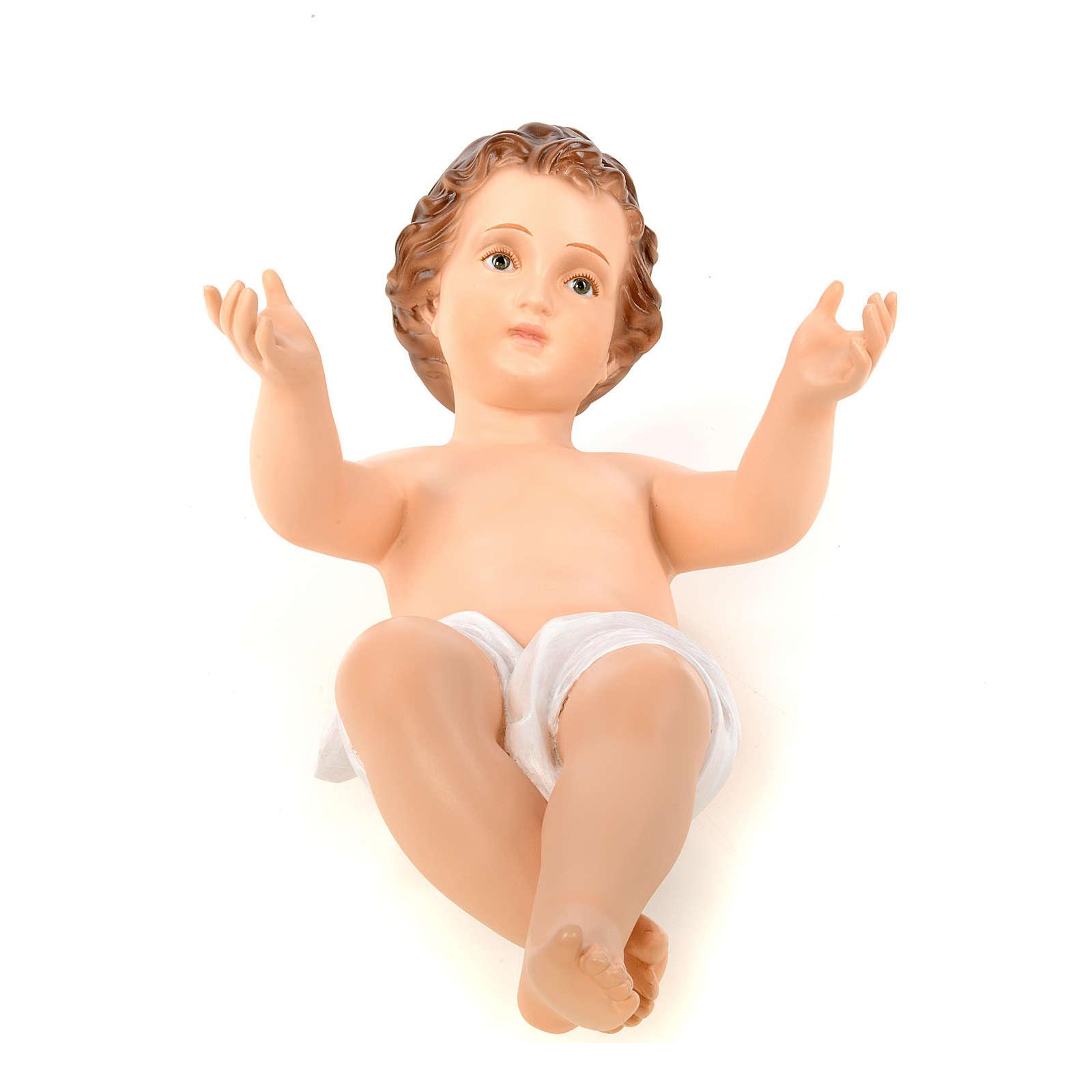 Baby Jesus, naked with crystal eyes, 58cm Landi 3